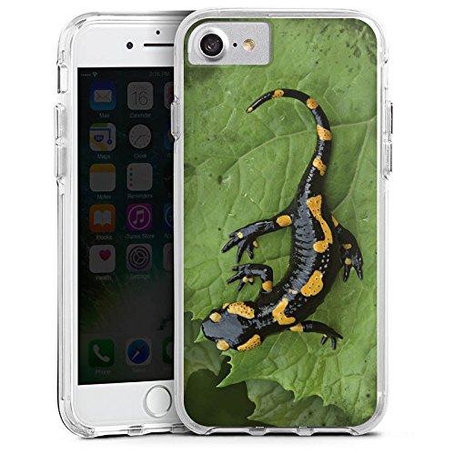 Apple iPhone 6s Bumper Hülle Bumper Case Glitzer Hülle Salamander Echse Reptil Bumper Case transparent