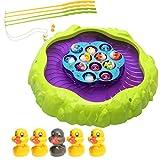 Homyl Mehrfarbige Elektro Magnetische Fische Angelspielzeug für Kinder Lernspielzeug Geburtstagsgeschenk