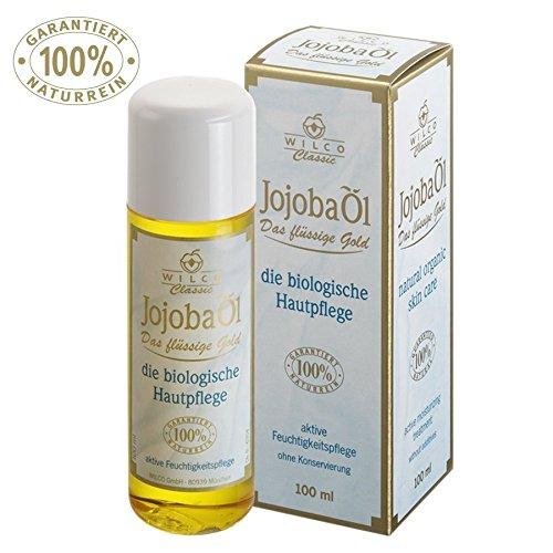 JOJOBA-ÖL, Wilco Classic, 100% Naturrein, für Körper und Gesicht, 100ml, Gesichts und Haut-Öl. Für die tägliche Hautpflege und Massage-Behandlung. Körper-Öl Anti-Falten/Anti-Aging aus der Natur. ... - Baby-massage-behandlung