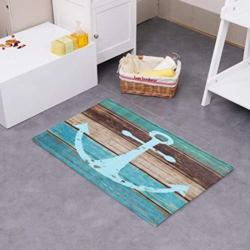 Schöne Fußmatte Badezimmermatte rutschfest Duschmatte schnelltrocknend Anti-Rutsch Küchenmatte...