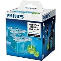 Philips JC302/50 - Cartuchos de limpieza con sistema de filtro dual y lubricacion activa, refrescantes, 2 pack
