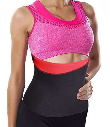 Hot Thermo Sweat Belt, Slimming Taillenmieder Bauchweggürtel Body Girlde (M(2-3 Days Delivery), Red(Local Seller))
