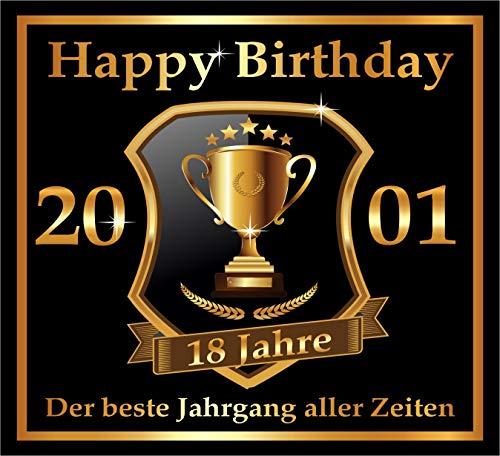 RAHMENLOS 3 St. Aufkleber zum 18. Geburtstag: 2001 der Beste Jahrgang Aller Zeiten - Selbstklebendes Flaschen-Etikett. Original Design