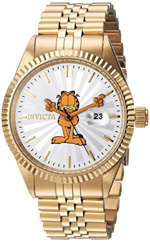 Invicta 24873 Character - Garfield Herren Uhr Edelstahl Quarz silbernen Zifferblat