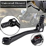Romdink CNC Aluminium Klappschalthebel Schalthebel Universal für Motorräder ATV Dirt Bikes