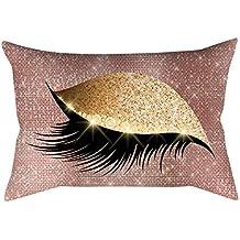 BBestseller Moda Estampado de Ojos Funda de Almohada,Soft Velvet Fundas de Cojines Almohadas IKEA