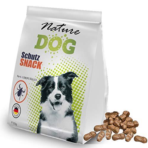 Bionic Nature Schutz Snack für Hunde 250g, Schutzschild in 10-14 Tagen durch Schwarkümmelöl, funktioniert mit Zeckenzange, Zeckenkarte, Zeckenschlinge, auch für Welpen und kleine Sensible Hunde