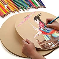 Notebooks - Sheets Professional Drawing Round Kraft Paper Art Oil Painting Paper Sketchbook Creative Office School Stationery Supplies (25cm 20pcs)