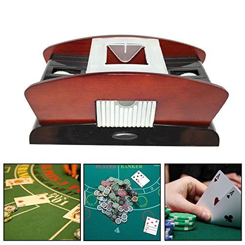 wisedwell Kartenmischer Elektrisch Automatischer Kartenmischgerät Batterie betriebenes aus Haltbares Leichtes ABS Material
