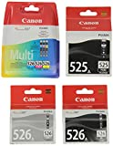 Canon PGI525 / CLI526CMY + K + GY Tintenpatronen, 6-er Set von 2 x schwarz, 3 x farbtinten, 1 x grau