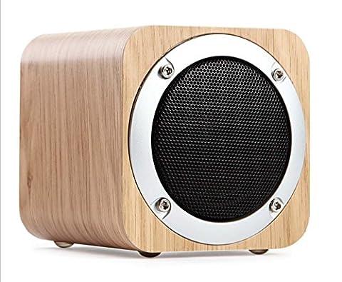 Téléphone mobile original sans fil Bluetooth audio téléphone en bois massif Haut-parleur Bluetooth haut-parleur carte portable , white oak