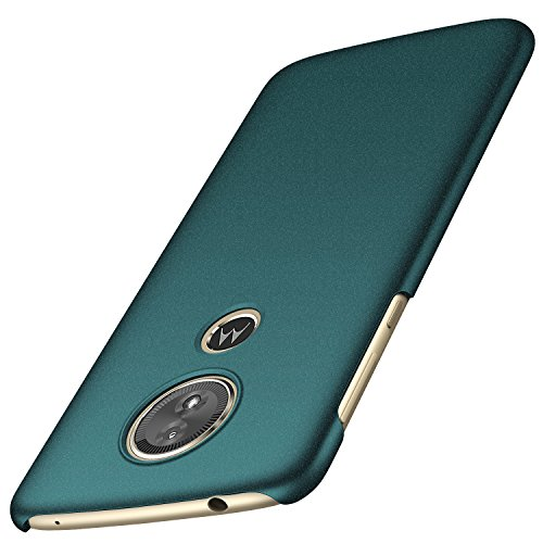 anccer Moto G6 Play/Moto E5 Hülle(International Edition), [Serie Matte] Elastische Schockabsorption und Ultra Thin Design (Kies Grün)