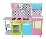 Aga4Kids Kinderküche DALAS, Küchenspielzeug,Spielküche,Küche mit Zubehör, Spielzeugküche, Holzspielküche,Kinderspielküche