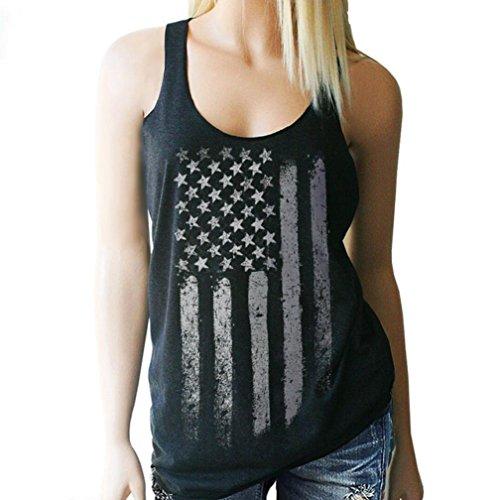 Tops für Frauen lmmvp Damen Buchstabe Print Sexy Tank Crop Tops Weste Bluse T-Shirt (Buchstaben Tank)