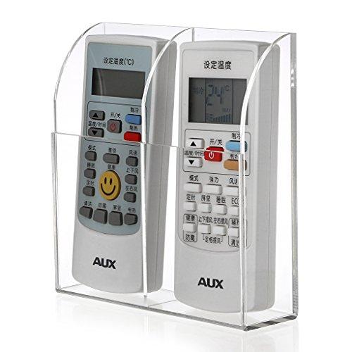 BTSKY Organizador de Control Remoto Soporte de Acrílico Para Acopiar Aire Acondicionado Control Remoto de Televisor Mando a Distancia de Sonido (2-Compartimiento)