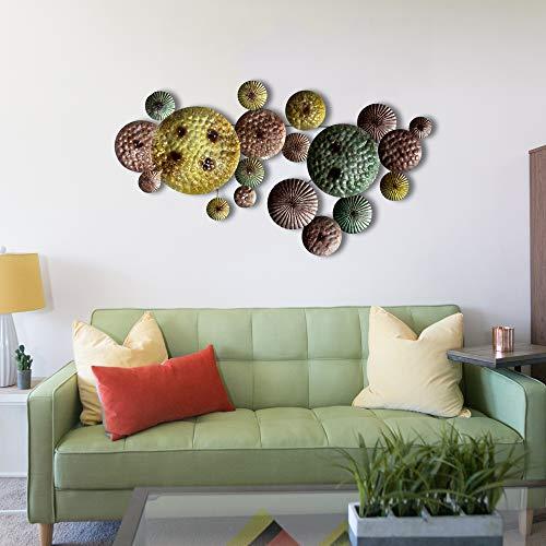 inhouse Set, geschmiedet aus Kreise Metall Wand Kunst Skulptur Wand Decor und zum.