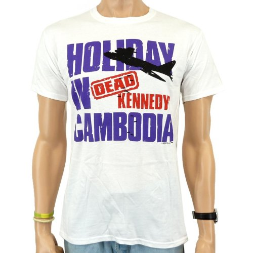 Dead Kennedys-Cambo T-Shirt Dia Band, colore: bianco, S