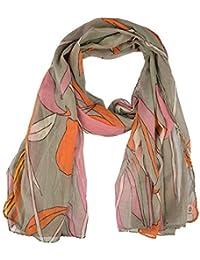 c67c585bd5b8 Becksöndergaard - Echarpe - Femme gris Gelb, Grau, Orange, Pink Taille  unique