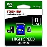 Toshiba SD-C08GJ-6A Carte mémoire micro SDHC Classe 4 8 Go