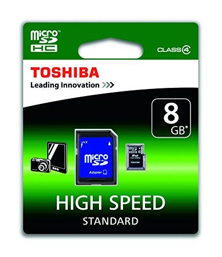 Toshiba High Speed Standard Micro SDHC 8GB Class 4 Speicherkarte schwarz