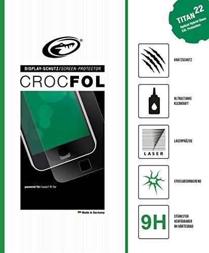 CROCFOL TITAN 5K HD OPTICAL HYBRID GLASS für das Samsung SGH-N500. Ultra Kratzschutz (9H) und stoßabsorbierend (SHOCK-PROOF). 3D Touch Glasfolie für das Original Samsung SGH-N500. Hergestellt in Deutschland.