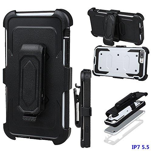 """xhorizon FM8 Eingebaut Schützender Stoßdämpfer Heavy Duty Schutz Schockreduzierung/Stoßstang Case für Apple iPhone 7 Plus [5.5""""] (Cyan) Weiß"""