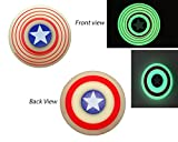#8: Captain America Glow in Dark Fidget Spinner, Red