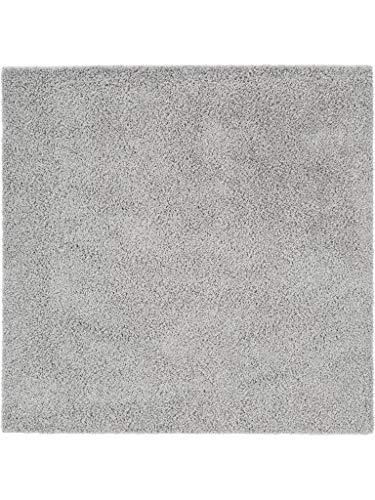 Benuta Hochflorteppich Swirls Shaggy Langflor Grau 160x160 cm Kunstfaser schadstofffrei