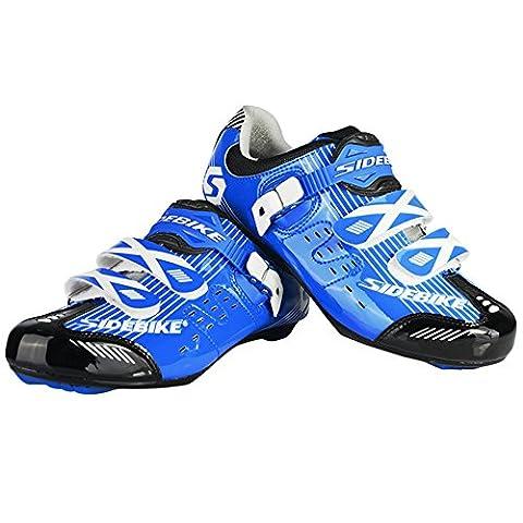 Fastar professionnel homme respirant Cyclisme sur route Chaussures de route Chaussures de vélo de montagne Vélo Chaussures de course à pied (EU 40–44)
