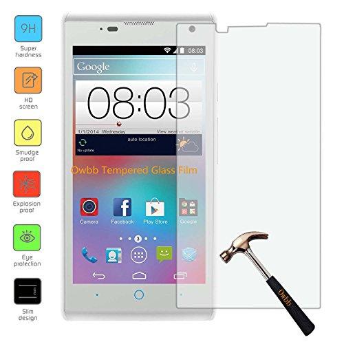 Owbb Glas Display Schutzfolie für ZTE KIS 3 Max Smartphone(4.5 inch) Screen Panzerglas Protector Hartglas Schutzfolie Ultar Clear