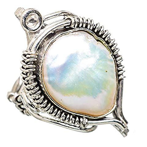 Mother Of Pearl, Nacre Argent Sterling 925 Bague 5