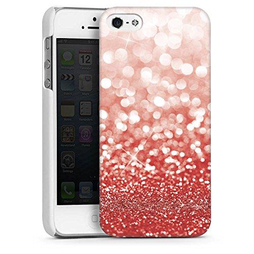 Apple iPhone 4 Housse Étui Silicone Coque Protection Paillettes Brillance Bling-bling CasDur blanc