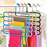 #6: House of Quirk 5 Layer Colorful Pants Scarf Hangers-Brown