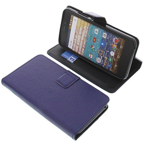 foto-kontor Tasche für Archos 50f Neon Book Style blau Schutz Hülle Buch