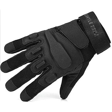 Goodid par guantes anticorte espesado ajustable dedo completo con estera de EVA con lo mismo de Rápido & Furioso protector resistente al aire libre para ciclimo portero mataña senderismo trabajo