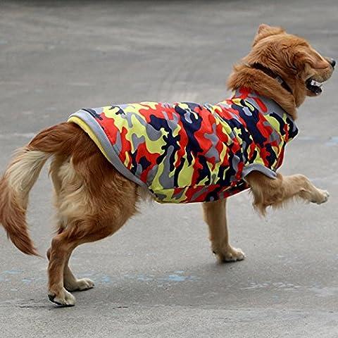 Vestiti di Pet le collezioni autunno/invernoUna volta era un labrador rtvr golden rtvrI cani di grossa taglia i vestitiSamoiedoGilet in fitto del cane grande costume,Il camuffamento giallo,24(torace75cm