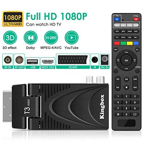 DVB-T2 Receiver Kingbox T3 Mini DVB-T2-Decoder, DVB-T2 Empfänger HD-Terrestrischer Decoder TV Antenne 1080P / DVB-T2-DVB-T-HD-Decoder / H.265 / Dolby / Multimedia / HDMI/ YouTube / IPTV