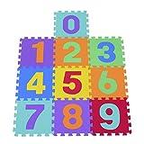 HOMCOM 10 Stück Puzzlematte Zahlen Matte Kinder Spielmatte Kinderteppich 26-teiliges Set
