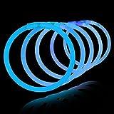 100 Pulseras luminosas glow pack azules ENTREGA 1-3 DÍAS