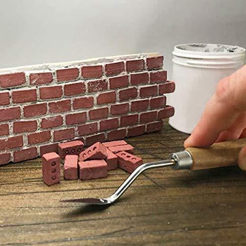 mxjeeio Mini Zement Ziegel und Mörtel Lassen Sie Ihre eigene kleine Wand Mini Ziegel Spielzeug Bauen