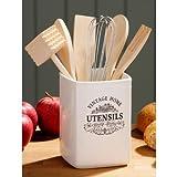 Titular Vintage Home Utensil Holder Cream Ceramic Beautiful Design