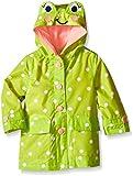 London Fog Baby Girls Enhanced Radiance Frog Rain Slicker