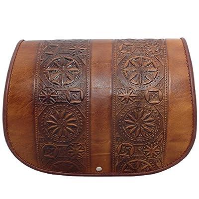 Ohara Cuir moulée Design traditionnel fait à la main sacoche à bandoulière Sac à main Sac à bandoulière