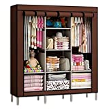 #3: GTC 6+2 Layer Fancy And Portable Foldable Collapsible Closet/Cabinet (Need To Be Assembled) ( 88130 ) (Brown)