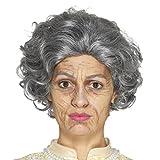 Amakando Oma Schminkset Großmutter älter Aussehen Falten schminken Opa Theaterschminke Schminke Alter Mann Faschingsschminke Greis Make Up Set Alte Frau