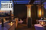 Terrassen-Heizstrahler 'Optical Pro': CE-zertifizierter Gasheizer mit elegantem Design, robuster Stahl-Alu-Rahmen für stabilen Stand des Terrassenheizers, gesamte Heizpilz-Höhe 225 cm - 3