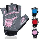 Netrox Fitness Handschuhe für Damen Trainingshandschuhe Sporthandschuhe Fitnesshandschuhe Fahrradhandschuhe Sport Gewichtheben Workout Krafttraining Kraftsport Bodybuilding Gym Gloves (Pink, M)