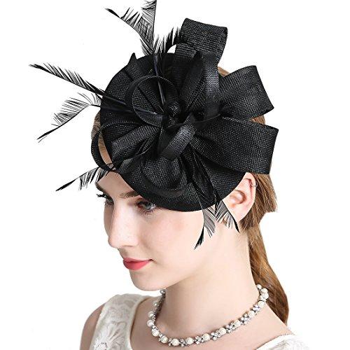 Damen Elegant Fascinator Hut Braut Hair Clip Accessoires Cocktail Royal Ascot