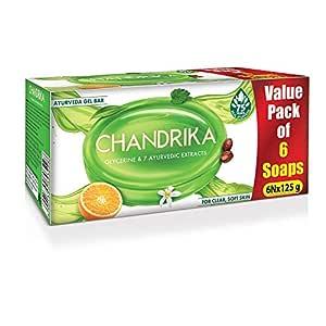 Chandrika Glycerine Ayurveda Gel Bar, 125g (Pack of 6)