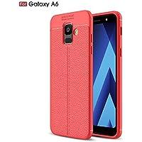 Shinyzone Weich TPU Silikon Zurück Hülle für Samsung Galaxy A6 2018,Ultra Dünn Flexibel [Rot] Litschi Textur Muster... preisvergleich bei billige-tabletten.eu